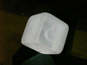 石英ガラス サイコロ 一の目ハート/スリタイプ