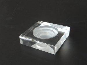石英ガラスオブジェ/コーン型お香立て各種