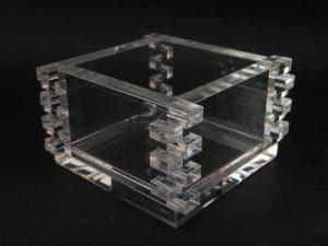 石英ガラスオブジェ/組み込み式枡(クリアタイプ)