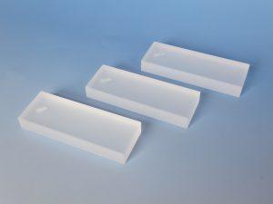 石英ガラスオブジェ/平型お香立て(スリ状)