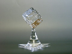 石英ガラスオブジェ/サイコロ&ハートのウェルカムオブジェ