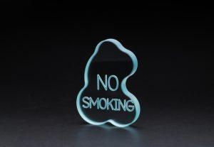 ガラス 卓上オブジェ/NO SMOKING