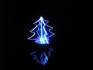 ガラスオブジェクリスマスツリー/組み込み式
