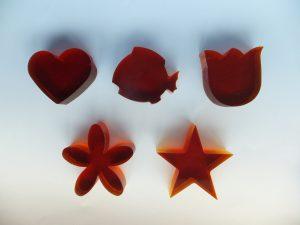 ダルガラスオブジェ アレンジ /オリジナルモチーフ各種(赤色)