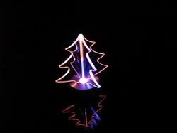 ガラスオブジェ/クリスマスツリー(組み込み式)