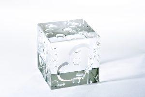 石英ガラス 1の目♥サイコロ / クリアタイプ